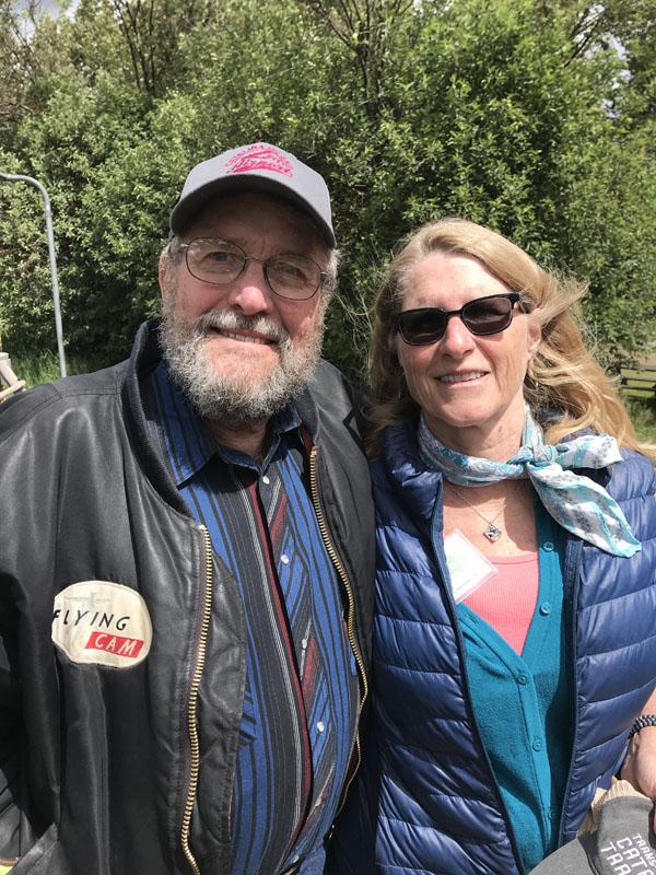 MPA Board Member Bob Ebinger, and wife Robin at the Polebridge Merc.
