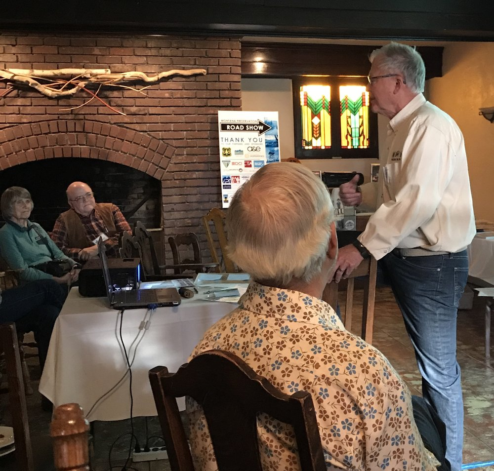 Mr. Stearn's talk was chock-full of colorful, clever, and intriguing data on the significant role that Montana's small towns played and still play in making the state a vibrant and viable place to live.