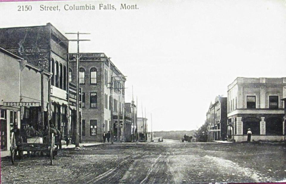 Looking down Main St. Columbia Falls 1915.jpg