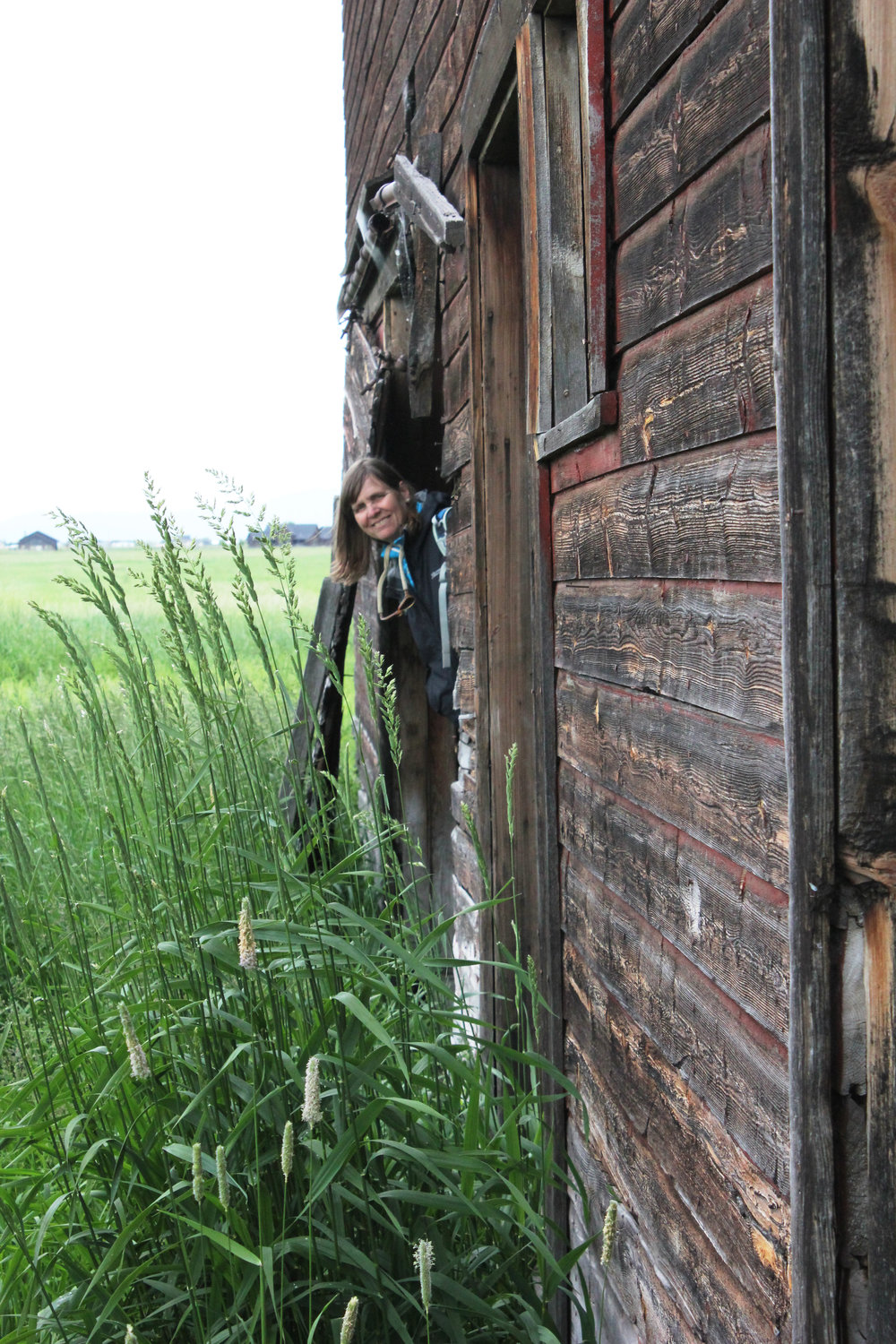 MPA Executive Director Chere Jiusto enjoyed the many photo opps in this barn.