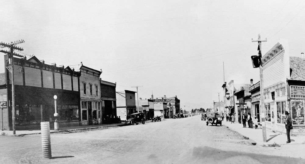A ca. 1920 view of downtown White Sulphur Springs.