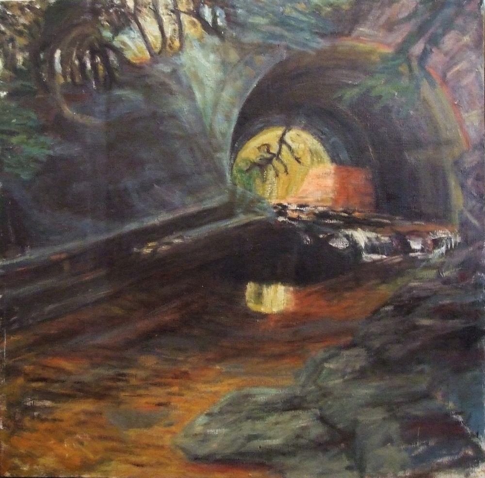 Mayville Gorge, Oil on Canvas, 2002