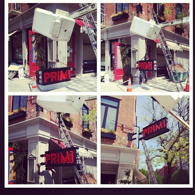 Hecho's most recent #design & #build project - #BarPrimi on #Bowery #NYC 👏👏👏 Check out this great spot & their delicious Italian menu! 🍷🍝🍴#restaurant #foodie #architecture #neon