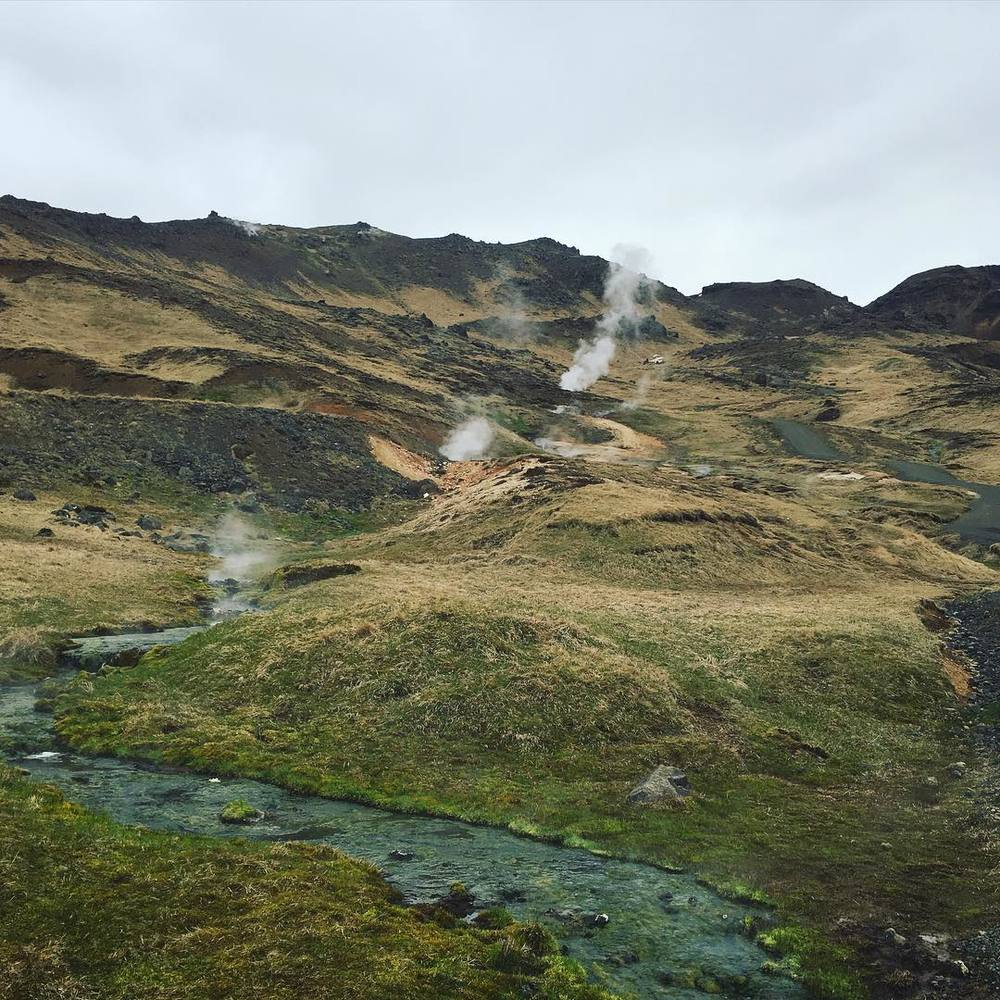 Iceland was a rehearsal stop before our UK tour. This hike brings you to a river that mixes with geothermal springs. You can relax in the water and monitor your temperature by going up or down stream. We spent half of our days rehearsing new music and half of our days being inspired by natural beauty.