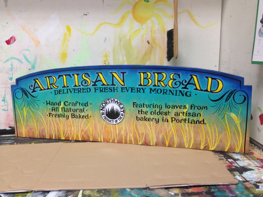 Specialty bread sign for Trader Joe's by Leah Garcia
