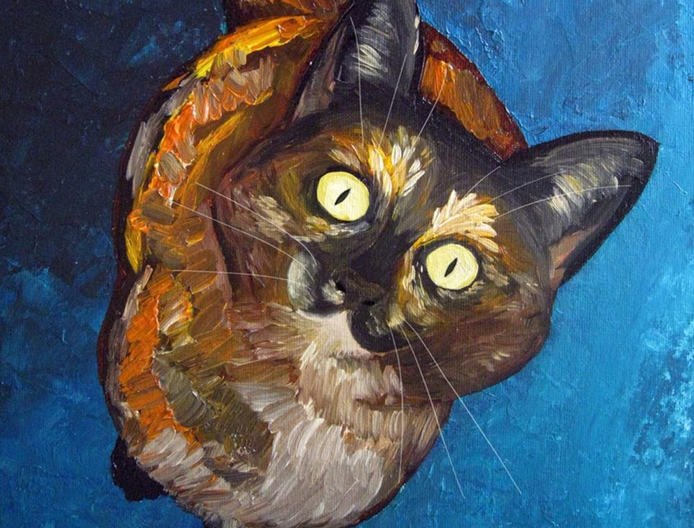 Cat Portrait by Leah Garcia