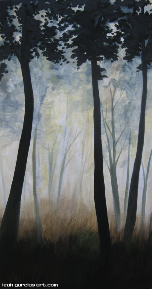 """The Woods"" 15x30 Acrylic on Canvas $335 Available on Request from Artist"