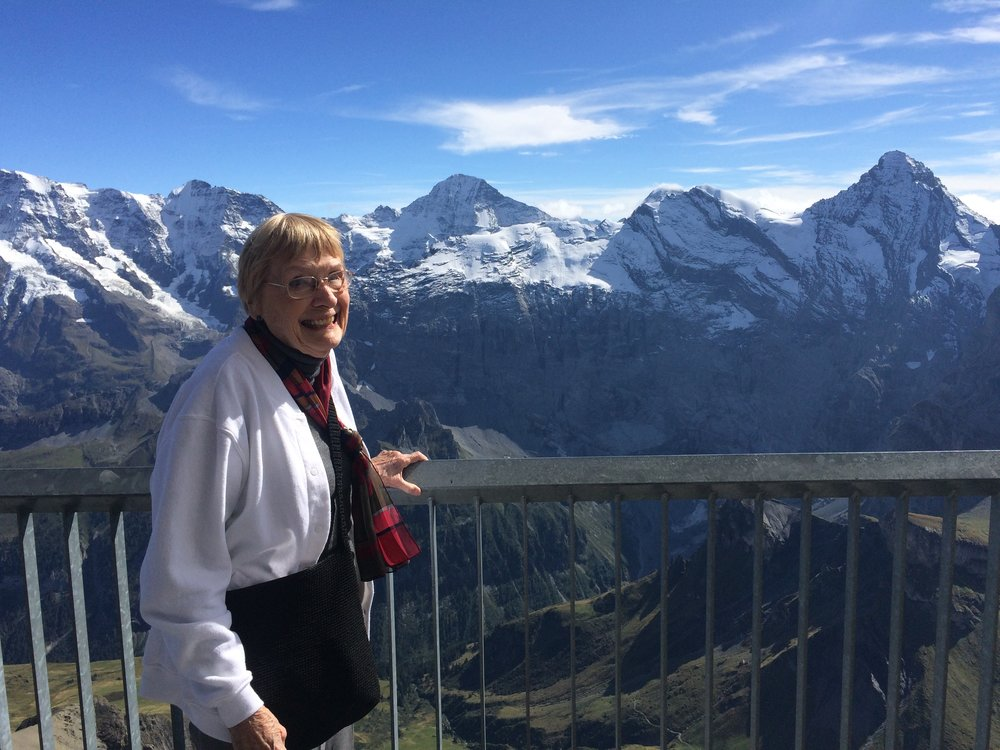 Reva, enjoying the Swiss alps, October 2015