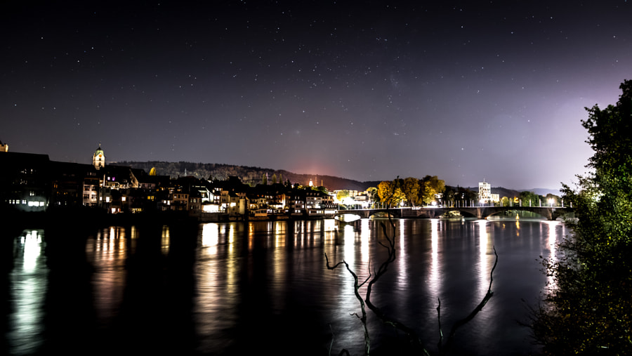 Old Rheinfelden at night