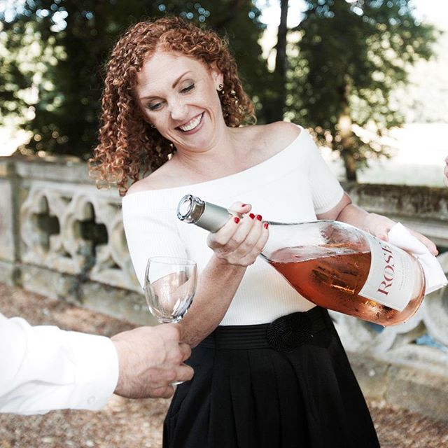Happy Valentines Day 💕 May I pour you a glass of pretty pink rosé from a giant bottle? Cheers to our mutual love affair with wine 💕
