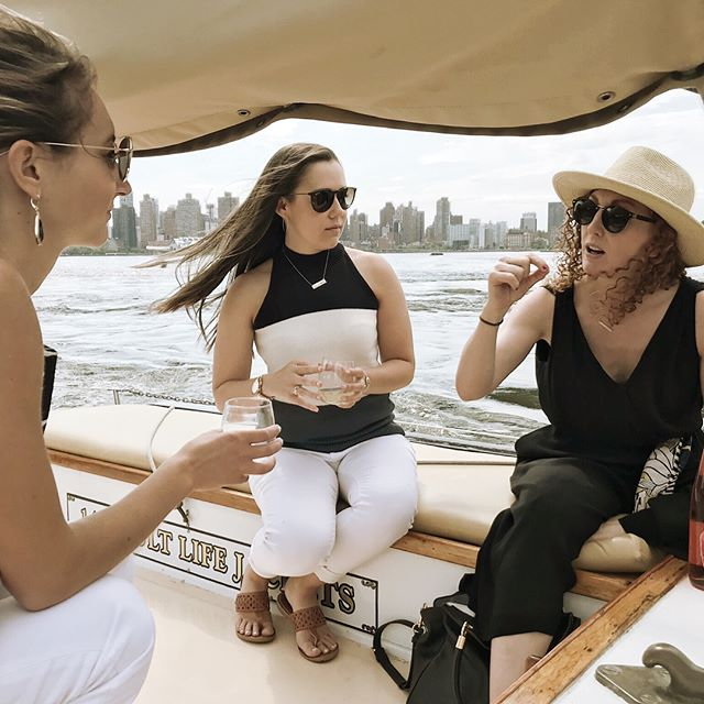 "Our absolute favorite event venue in NYC is, without a doubt, @venturasails ⛵️Every summer we look forward to getting our clients out on the water with Captain Pat and the crew for epic wine tasting experiences while sailing around Manhattan. *****⠀ A little over a week ago, we hosted VIP clients of the NY Mets (yes, the baseball team). Our awesome guests enjoyed a killer lineup of 7 ""Wines of the Sea"" (all wines grown near and influenced by the sea) with a delicious spread by @Murrayscheese - We sailed from World Financial Center in lower Manhattan up the East River to a marina in Queens near Citi Field so they could attend the Subway Series against the Yankees (Mets won). That's quite the way to arrive to a ball game, eh?!⠀ *****⠀ We have to pinch ourselves sometimes that this is what we get to call work. 🥂"