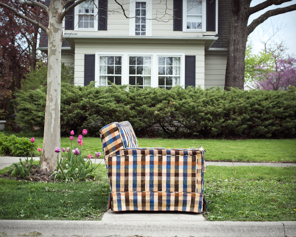 Plaid Love Seat, 2016