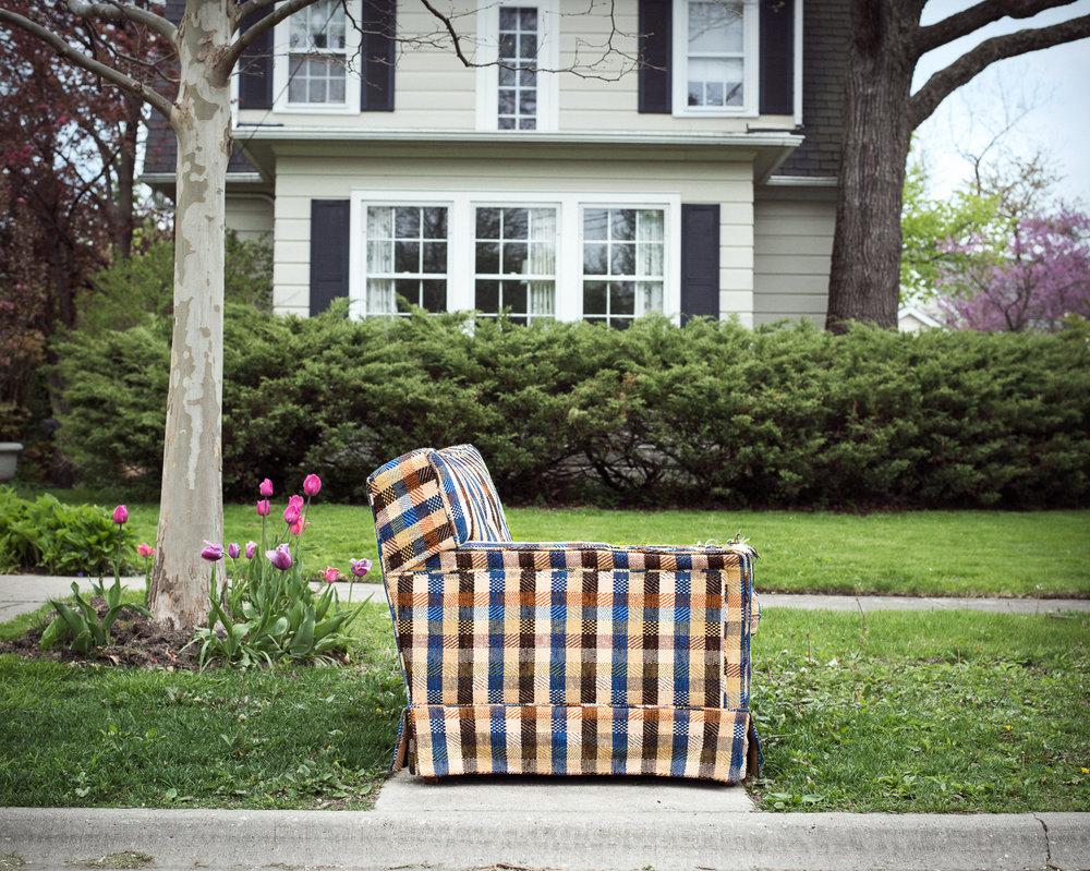 Plaid Love Seat, 2016