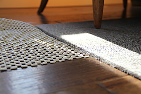 ... No Slip Rug Pad. Without Reviewing My Options, I Had Requested Their  Thickest, Cushiest Option, And It Is Definitely That.