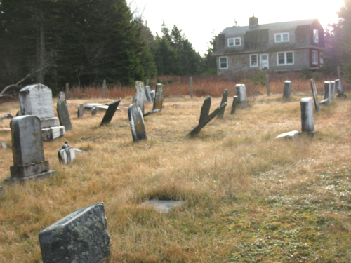 View of the Stanley Cemetery on Bulger Hill 2013