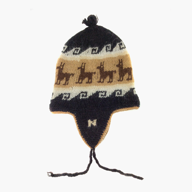 91af0d0c664 100% Alpaca Wool Hand Knitted Hat
