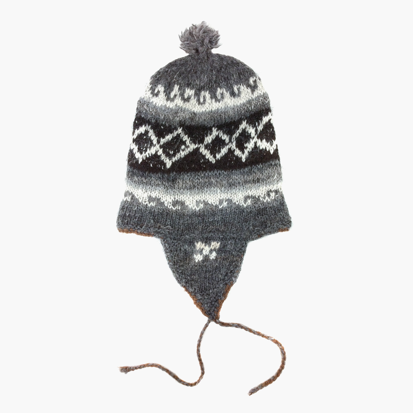 3695e4d7181 Dark Grey 100% Alpaca Wool Hand Knitted Peruvian Hat