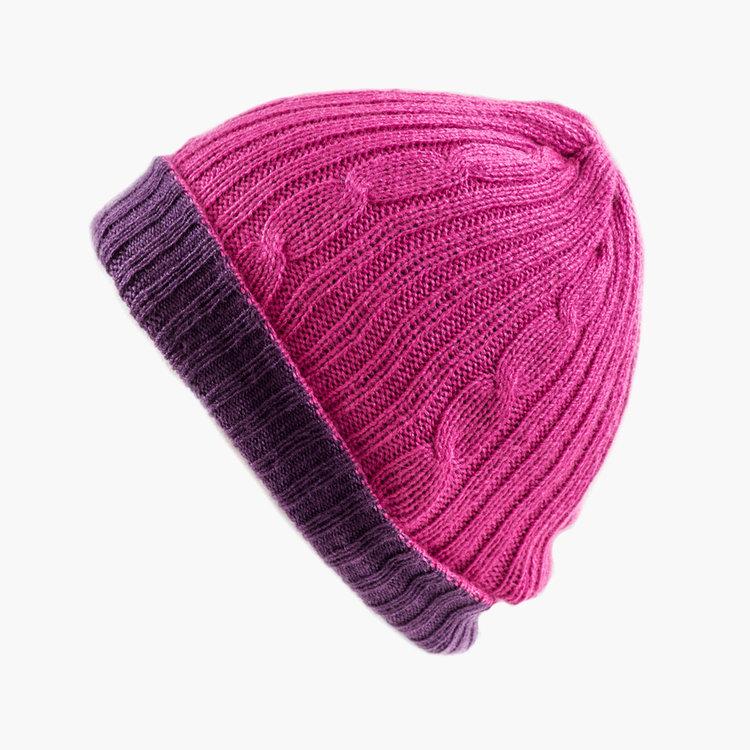 Alpaca Reversible Purple   Pink Hat 1aca2fe7e9a