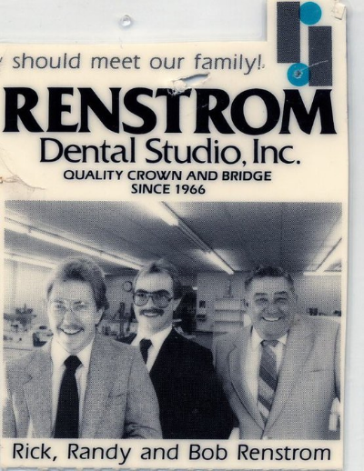 Rick, Randy, and Bob Renstrom in an ad for Renstrom Dental, in 1985