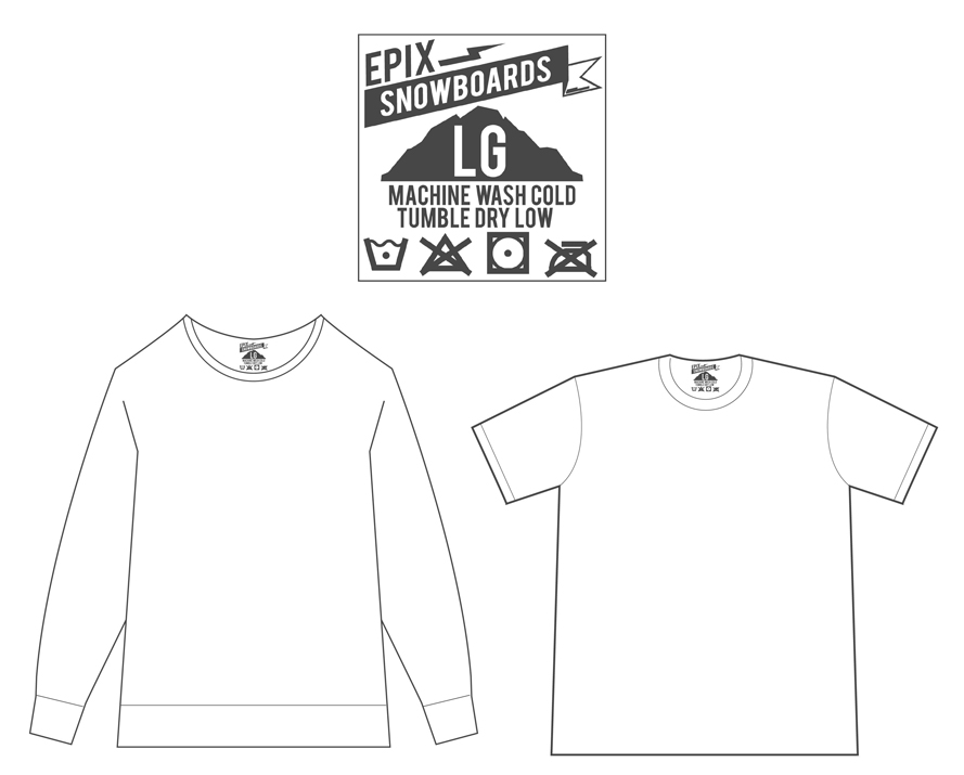 "Primary Label:   2.5"" x 2.5"" - Shirts, Sweatshirts, Jackets, & Button-Downs"