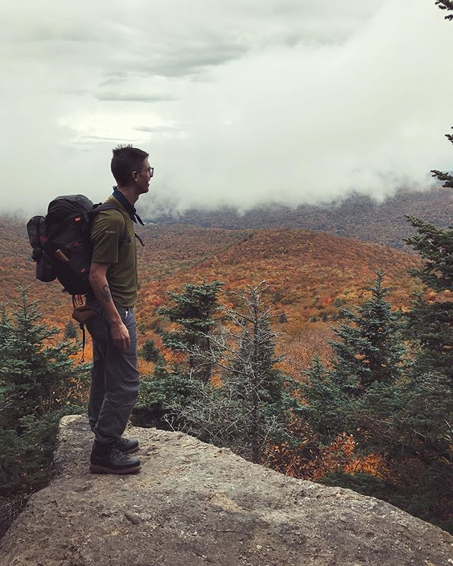 Outdoor Guy™ looks over forest