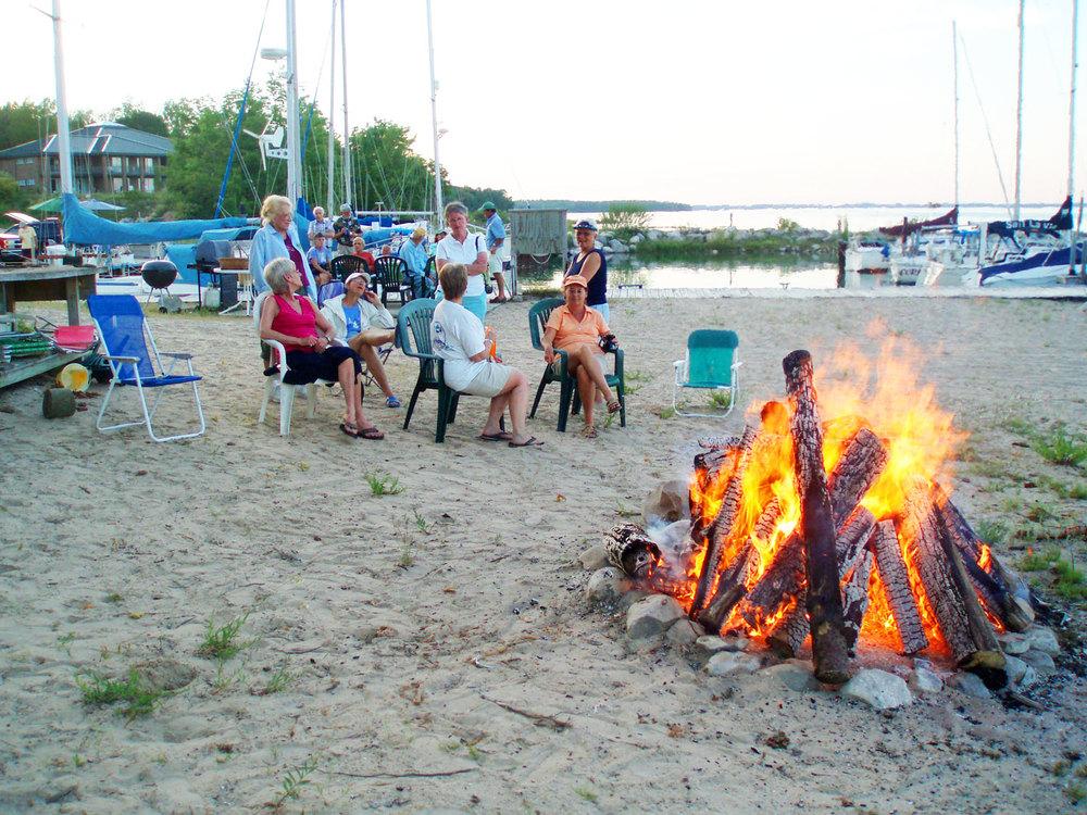 Campfires on the beach.