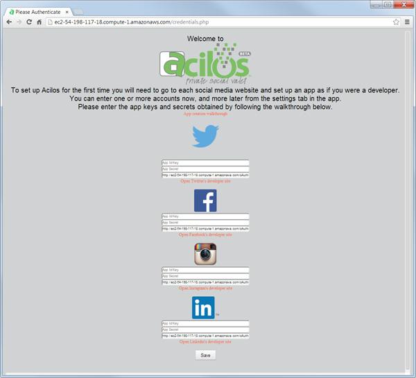 acilos start page