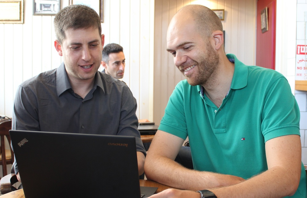 Pictured above are Tangiblee's Founders Eliad Inbar (left) and Yevgeniy Kuznetsov (right).