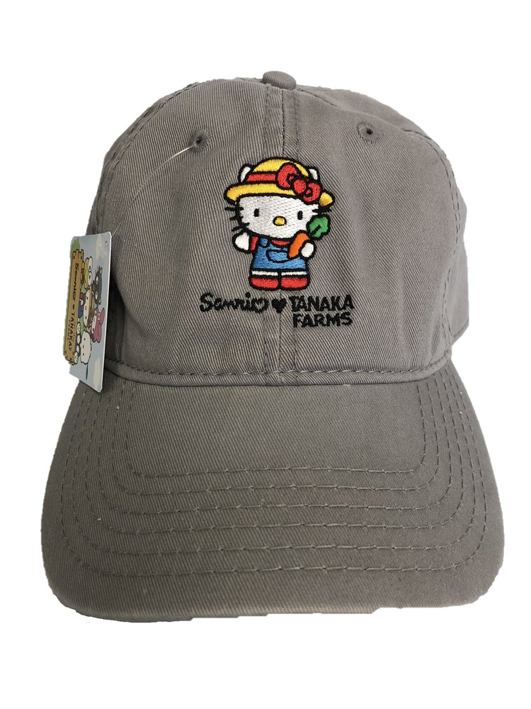 Light Gray Hello Kitty Hat - Adult — Tanaka Farms cd0e885a679