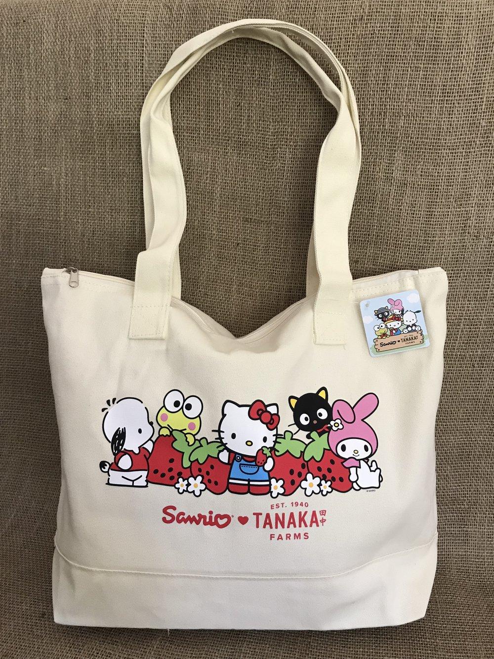 Strawberry Tote bag with Zipper — Tanaka Farms 403e6ec084257