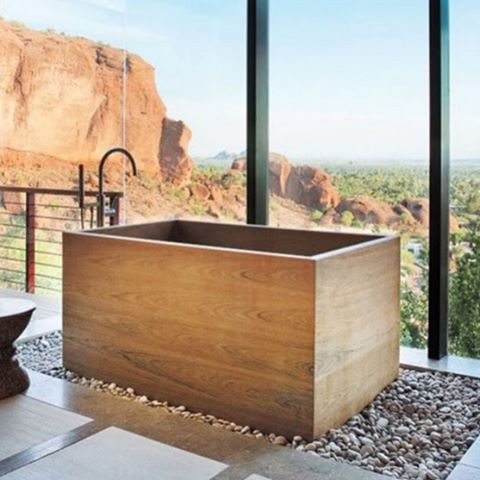 Relax in this Japanese soaking tub #bathenvy