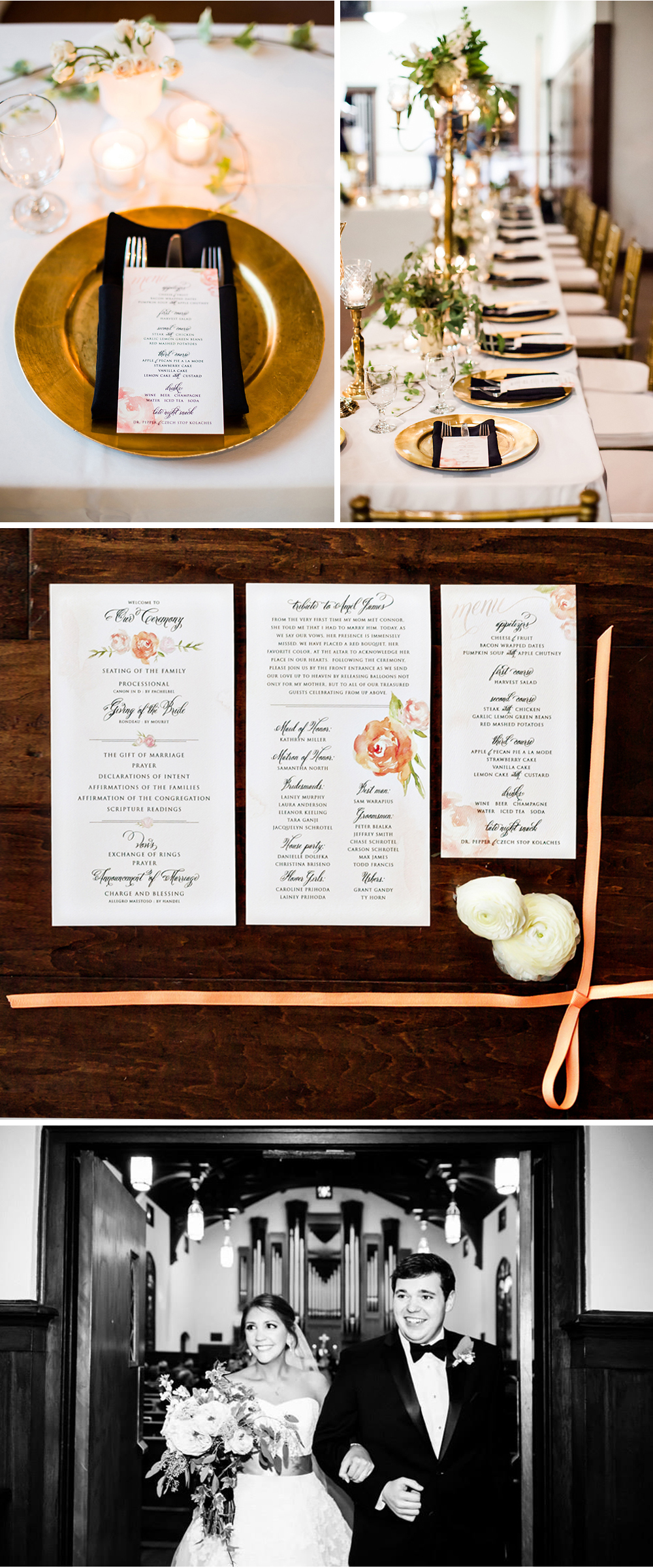 Wedding Suite Menus and Programs