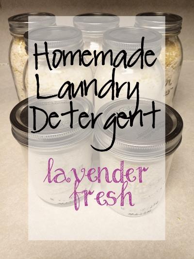 Homemade Laundry Detergent - Lavender Fresh