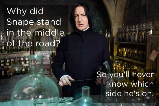 Why did Snape cross the road?