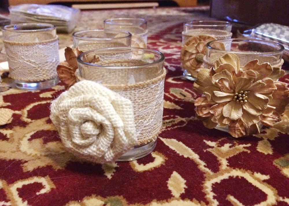 DIY votives in progress