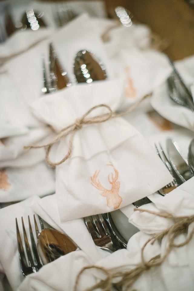 Rustic Wedding Silverware Bundles