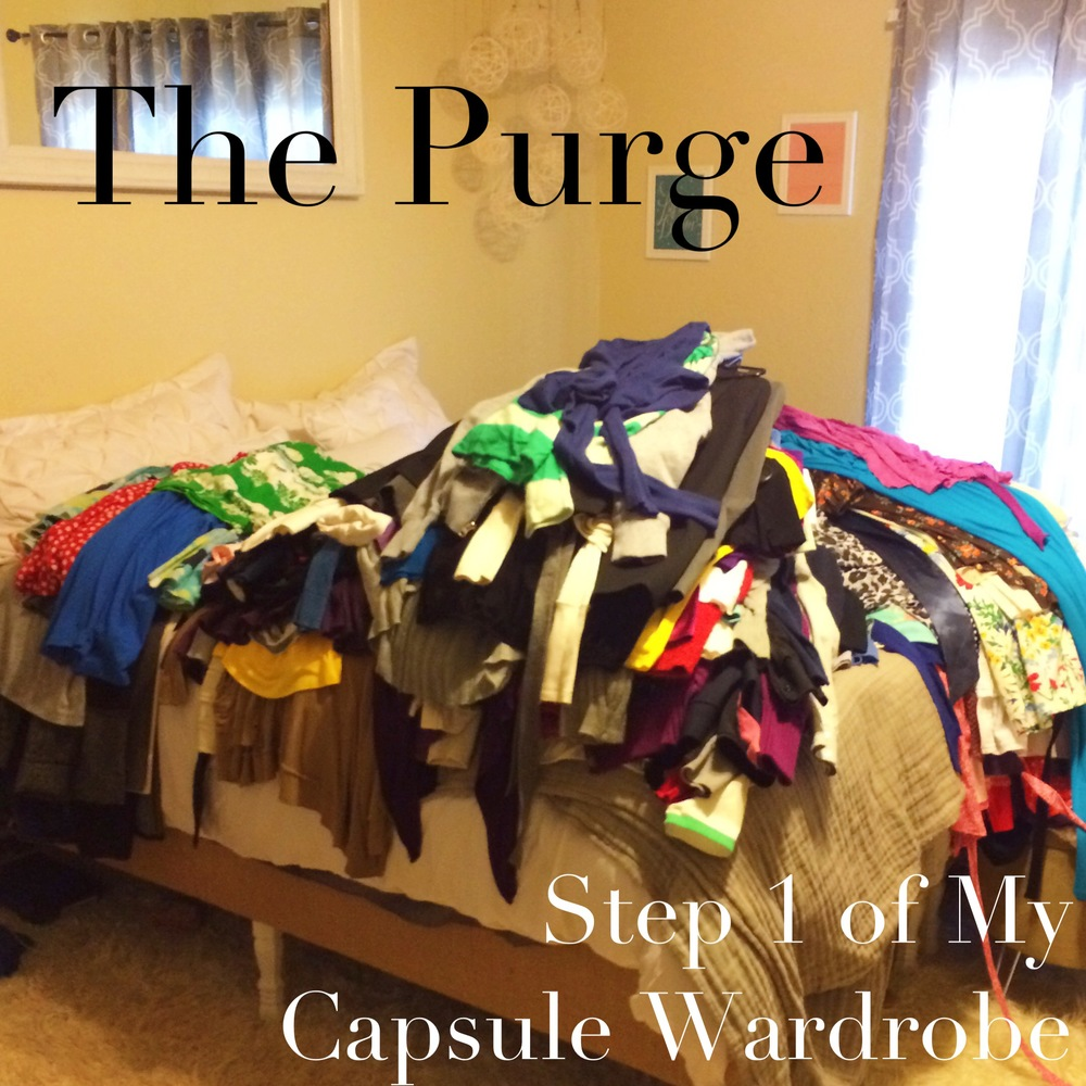 The Purge: Step 1 of My Capsule Wardrobe | MrsRobbinsSparkles.com