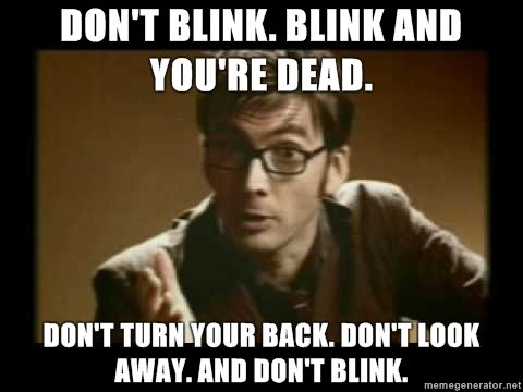 Blink, the best episode of Doctor Who. Because of ALL THE REASONS. | Mrs Robbins Sparkles