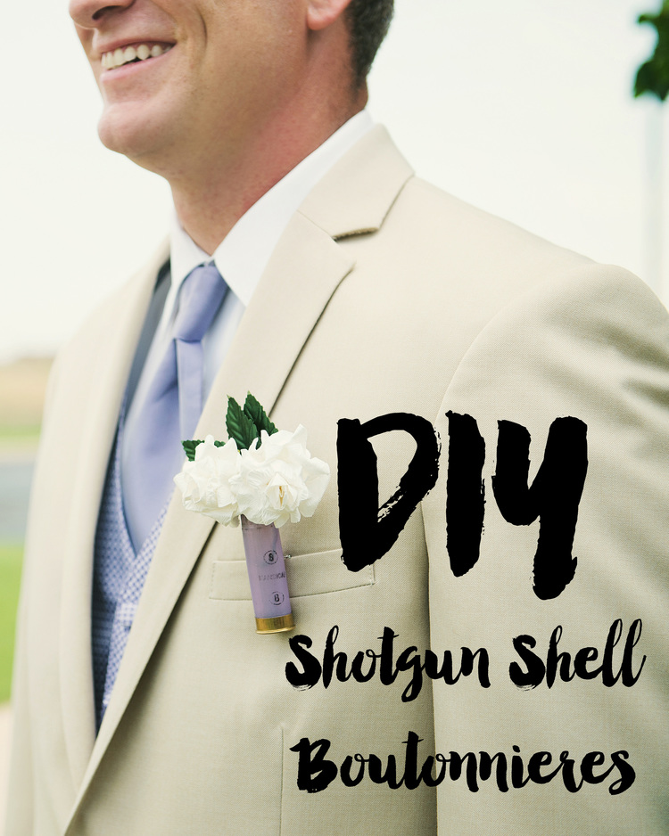 How i did it shotgun shell boutonnires mrs robbins sparkles diy shotgun shell boutonnieres solutioingenieria Image collections