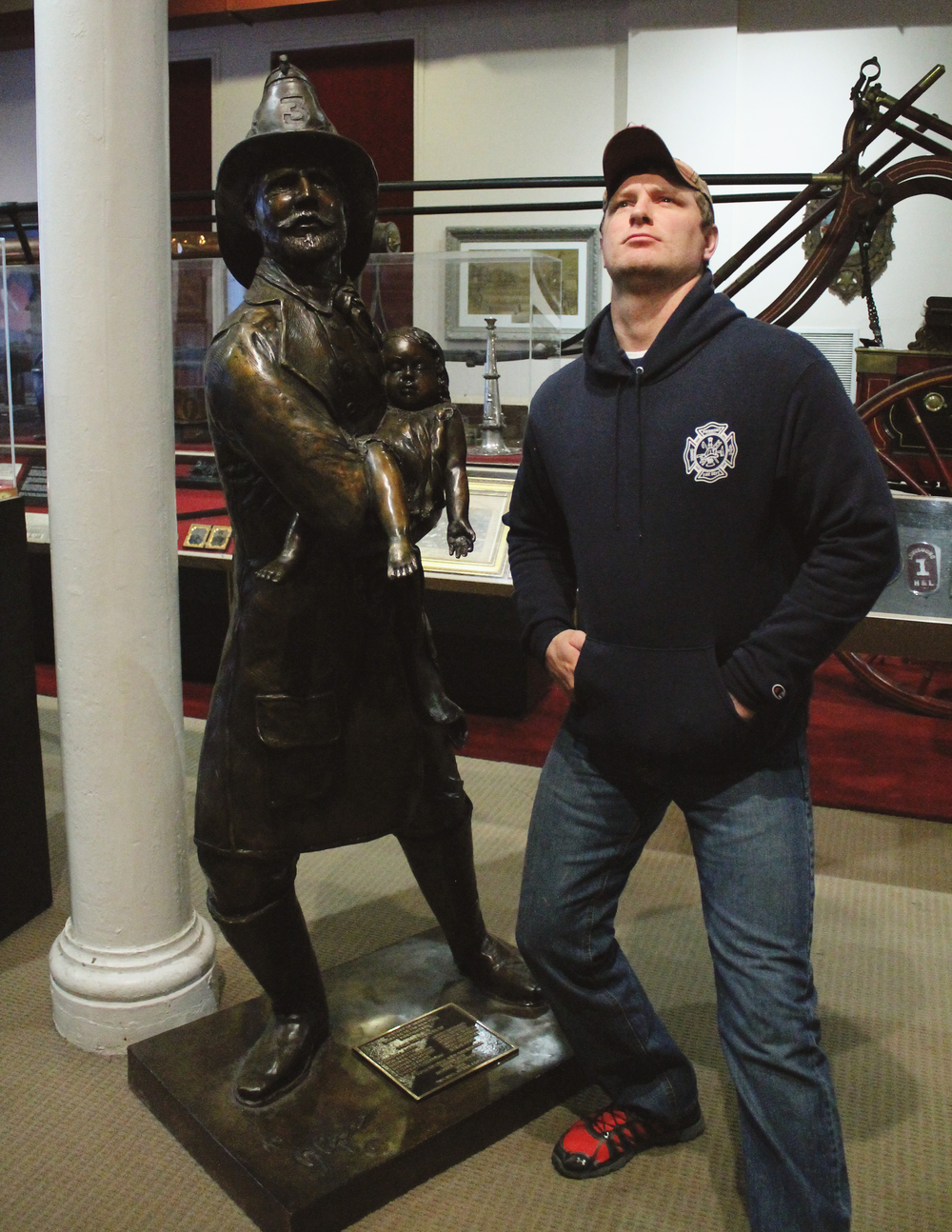 James at the Fire Museum