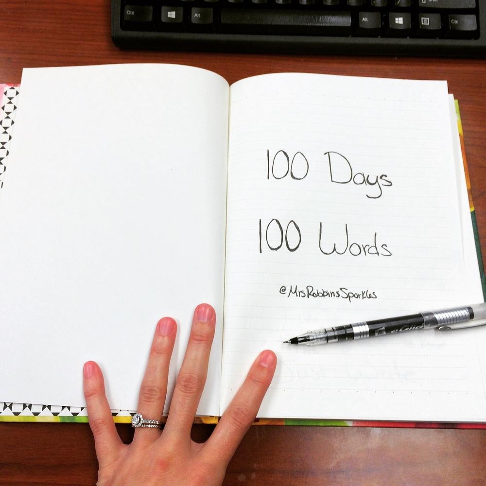 #100words100days || MrsRobbinsSparkles.com