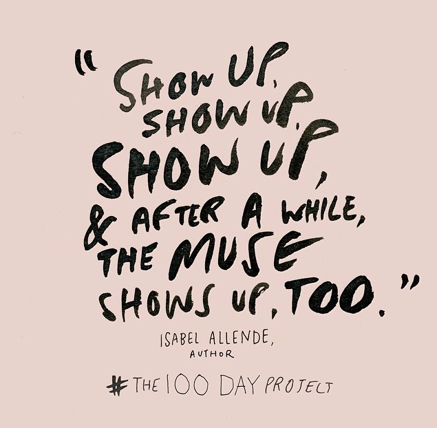 Show up, show up, show up, & after a while the muse shows up too. || MrsRobbinsSparkles.com