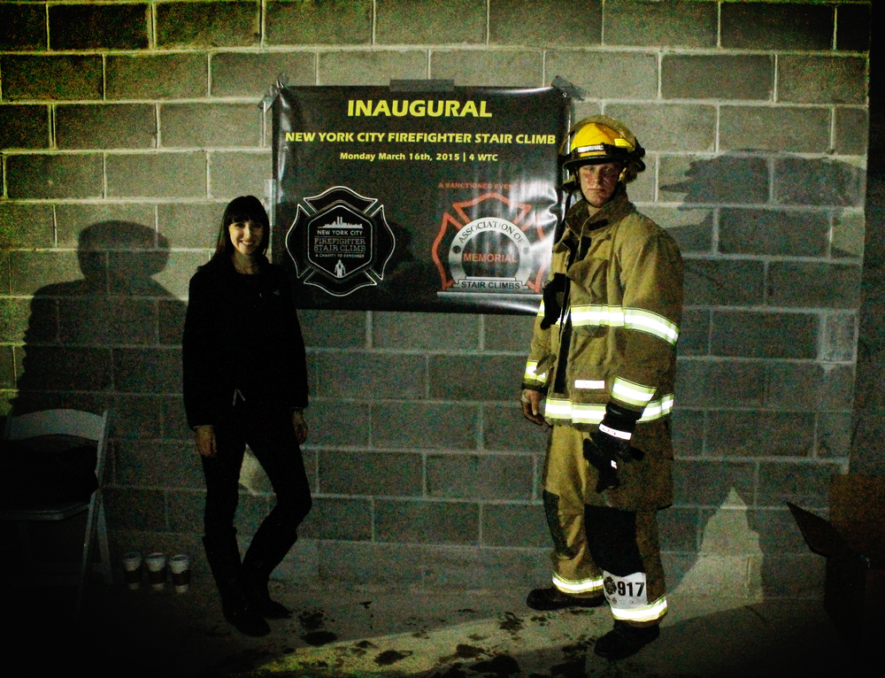 James and I at the Memorial Stair Climb || MrsRobbinsSparkles.com