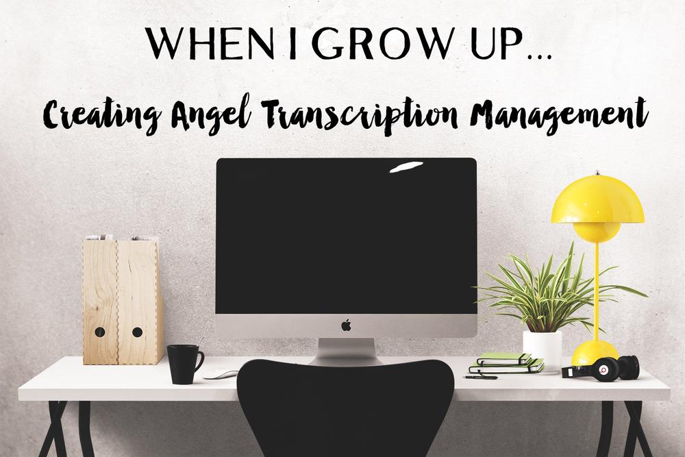 Creating Angel Transcription Management || MrsRobbinsSparkles.com