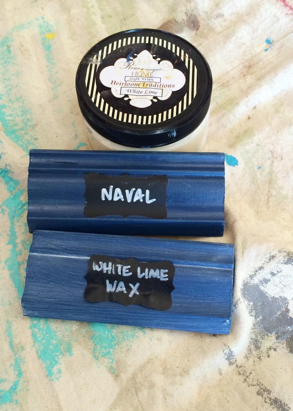 Naval chalk paint || MrsRobbinsSparkles.com