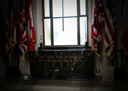 Chapel in American Cemetery in Normandy || MrsRobbinsSparkles.com