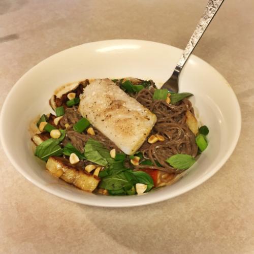 Cod and Miso Soba Noodles for Blue Apron || MrsRobbinsSparkles.com