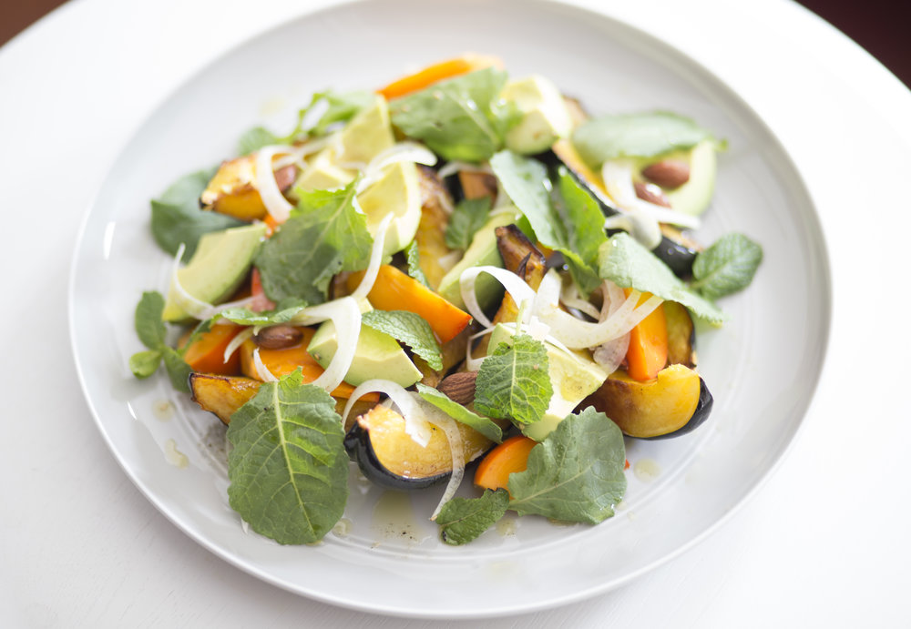 Kale and Persimmons Salad