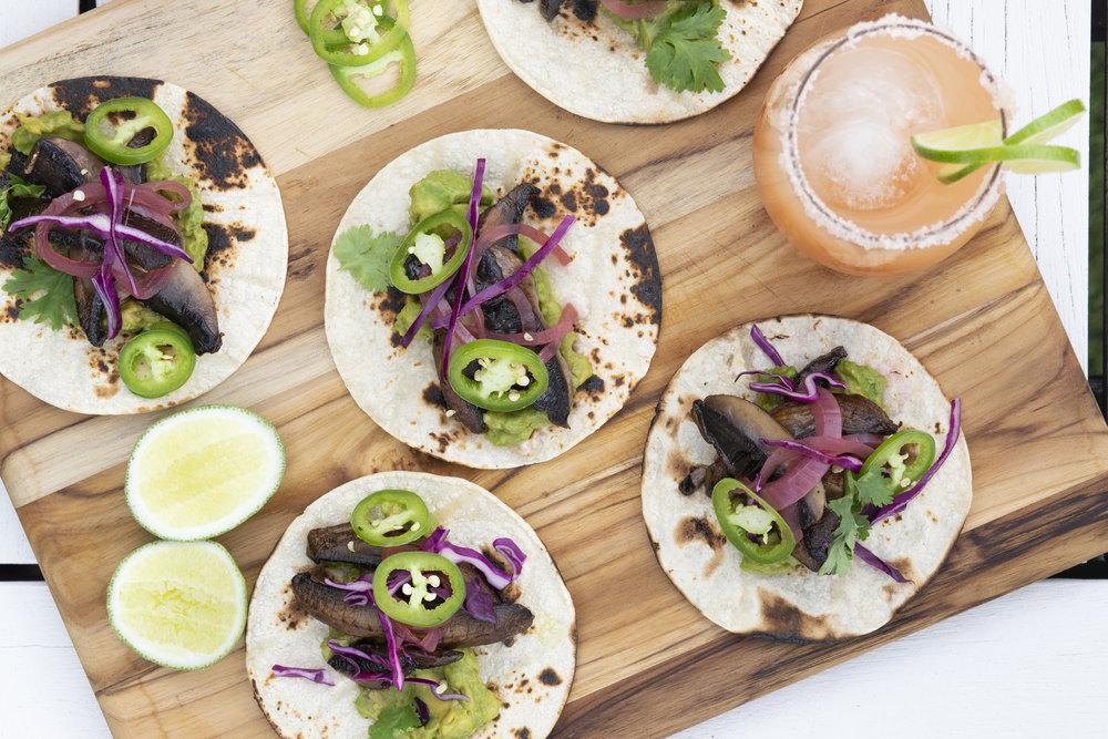 Mushroom Vegan Tacos and Rose Paloma.jpg