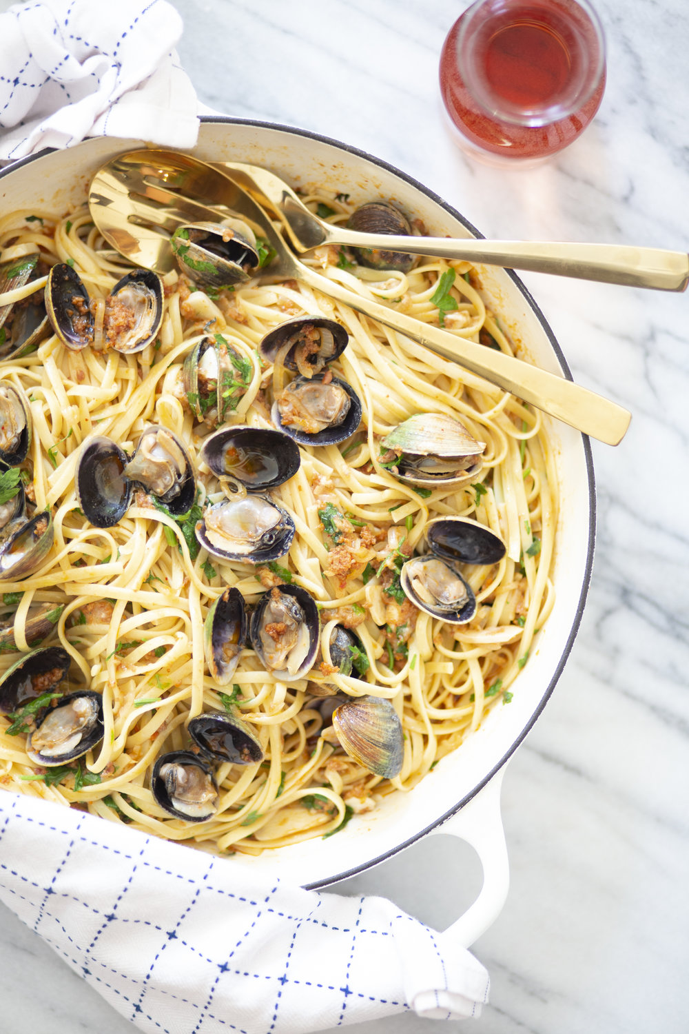 Rosé and Sausage Linguine and Clams.jpg